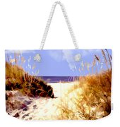 A View Through The Dunes To The Ocean Weekender Tote Bag