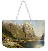 A Village By A Fjord Weekender Tote Bag