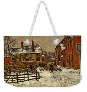 A Village In The Snow Weekender Tote Bag