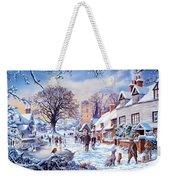A Village In Winter Weekender Tote Bag