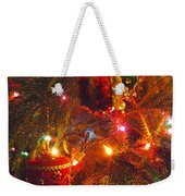 A Vintage Christmas  Weekender Tote Bag by Laurie Lundquist
