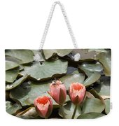 A Visitor To The Pond Weekender Tote Bag