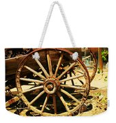 A Wagon Wheel Weekender Tote Bag