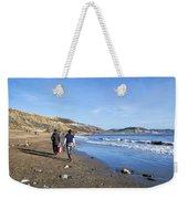 A Walk Along Back Beach Weekender Tote Bag