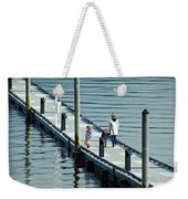 A Walk On The Pier Weekender Tote Bag
