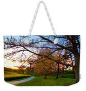 A Walk Through The Canola Fields At Sunset Weekender Tote Bag