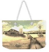 A Warm Welcome Antique Weekender Tote Bag
