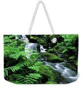 A Waterfall In Redwood National Park Weekender Tote Bag