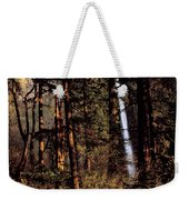 A Waterfall Tumbles Through The Forest Weekender Tote Bag