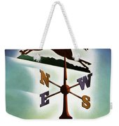 A Weathervane With A Racehorse Weekender Tote Bag