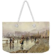 A Wet Day In Whitby Wc On Paper Weekender Tote Bag