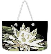 A  White Water Lily Weekender Tote Bag