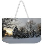 A White Winter's Morning Weekender Tote Bag