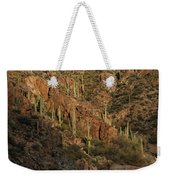 A Whitewater Rafters Rows His Boat Weekender Tote Bag