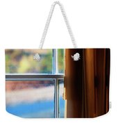 A Window With Torn Curtains Weekender Tote Bag