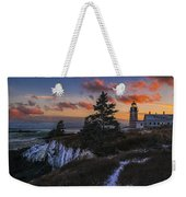 A Winter Dusk At West Quoddy Weekender Tote Bag