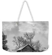 A Winter Eve Monochrome Weekender Tote Bag