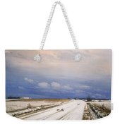 A Winter Landscape With A Horse And Cart Weekender Tote Bag