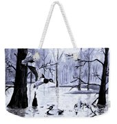 A Winter Reunion Weekender Tote Bag