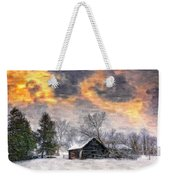 A Winter Sky Paint Version Weekender Tote Bag