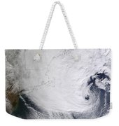 A Winter Storm Over Eastern New England Weekender Tote Bag by Stocktrek Images