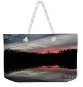 A Christmas Winter Sunset Weekender Tote Bag