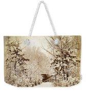 A Winter's Path Weekender Tote Bag