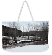 A Wintery Day In Vermont Weekender Tote Bag