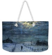 A Wintry Walk Weekender Tote Bag by Lowell Birge Harrison
