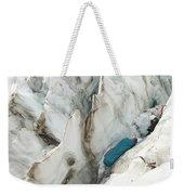 A Woman Sleeping In An Icy Crevasse Weekender Tote Bag