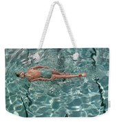 A Woman Swimming In A Pool Weekender Tote Bag