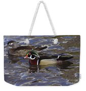 A Wood Duck Pair  Weekender Tote Bag