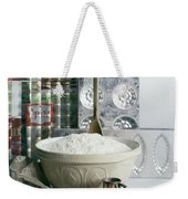 A Wooden Spoon In A Bowl Of Flour Weekender Tote Bag