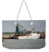 Seadrift Texas Working Boat Weekender Tote Bag