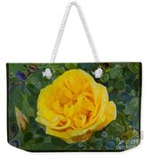 A Yellow Rose Abstract Painting Weekender Tote Bag