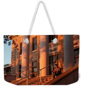 A Young Caucasian Male Student Sits Weekender Tote Bag