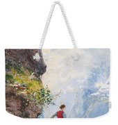 A Young Girl By A Fjord Weekender Tote Bag