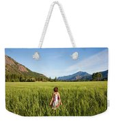 A Young Girl, Daughter Of A Farmer Weekender Tote Bag