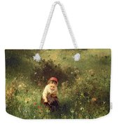 A Young Girl In A Field Weekender Tote Bag
