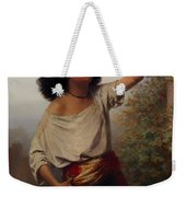 A Young Gypsy Woman With Tambourine  Weekender Tote Bag