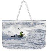 A Young Man Falls While Skiing Weekender Tote Bag
