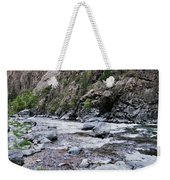 A Young Man Lays Back And Relaxes Weekender Tote Bag