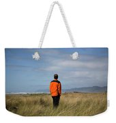 A Young Man Stands In A Field Weekender Tote Bag