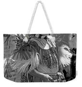 A Young Warrior - B W Weekender Tote Bag
