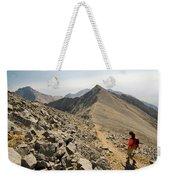 A Young Woman Hikes Borah Peak Weekender Tote Bag