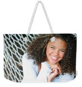 A Young Woman On A Hammock Weekender Tote Bag