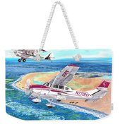 Cessna 206 And A1a Husky Weekender Tote Bag