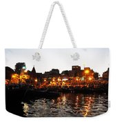 Aarti At Dashashwamedh Ghat 2 Weekender Tote Bag