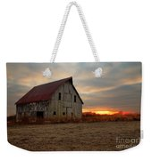 Abanded Barn At Sunset Weekender Tote Bag
