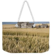 Abandoned Farmhouse In Wheat Field Weekender Tote Bag